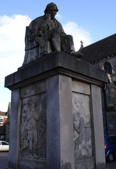 Statue of Dr. Johnson in Lichfield's Market Square